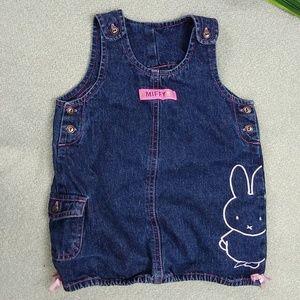 Miffy Bunny Denim Dress 18 month